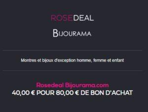Rosedeal Bijourama Vente privée
