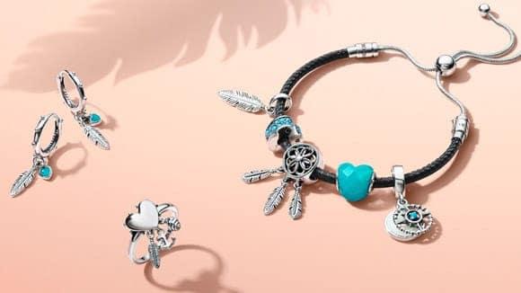 bracelet pandora bleu turquoise