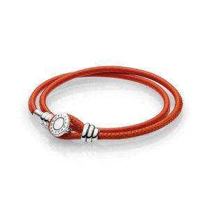 Bracelet moment double cordon épice orange 49€ - 597194CSO