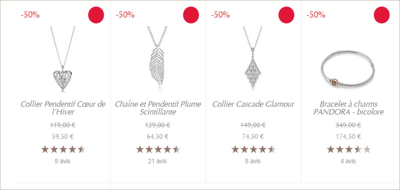 promotion collier pandora