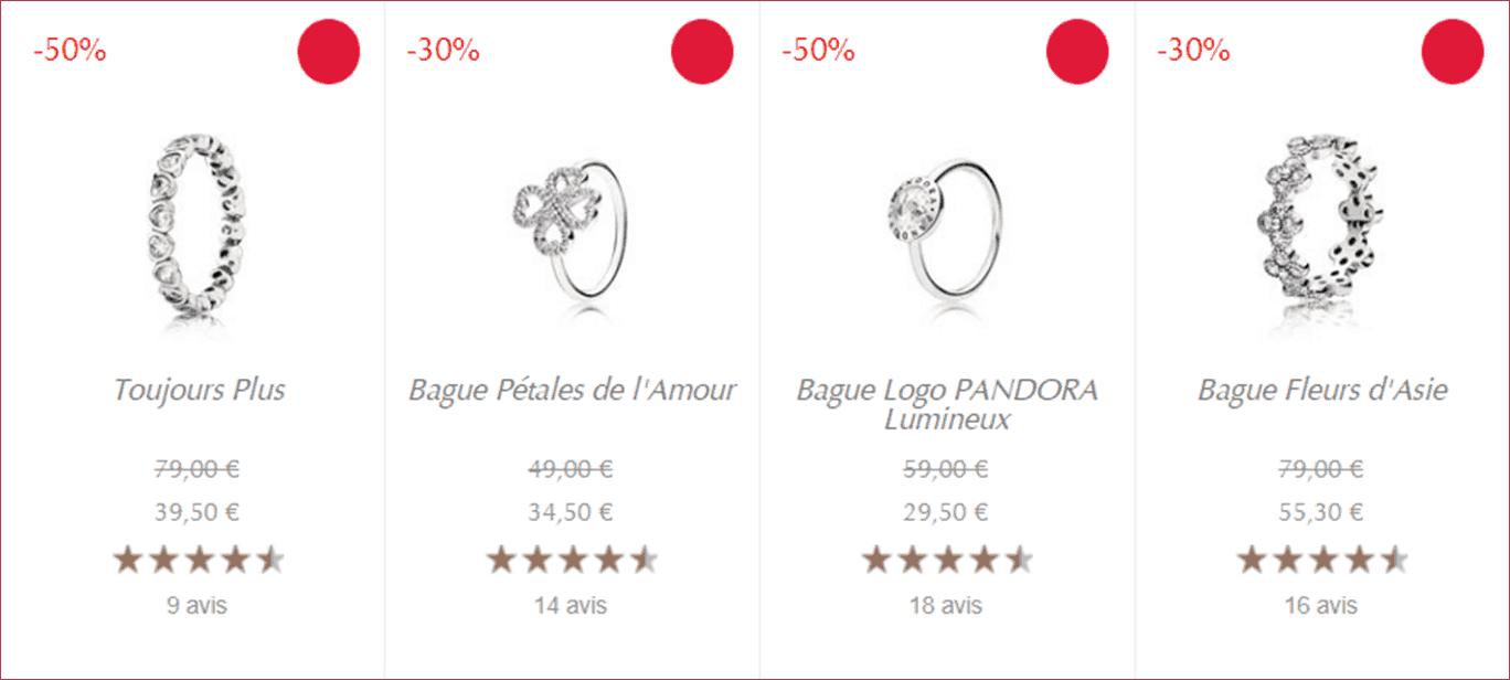 Bague Pandora Solde Ete 2018