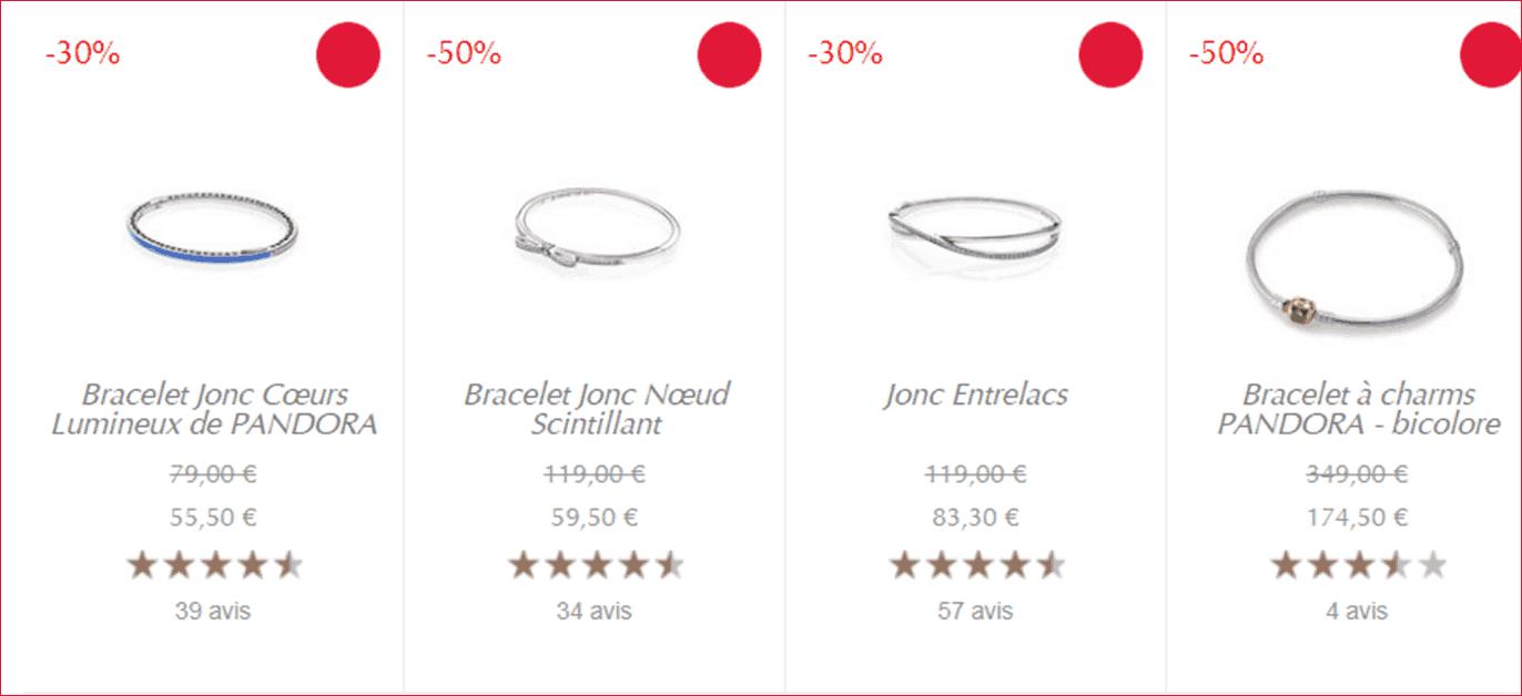 bracelet pandora charms soldes