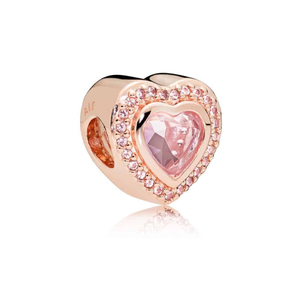 Charm amour scintillant Or Rose 89€