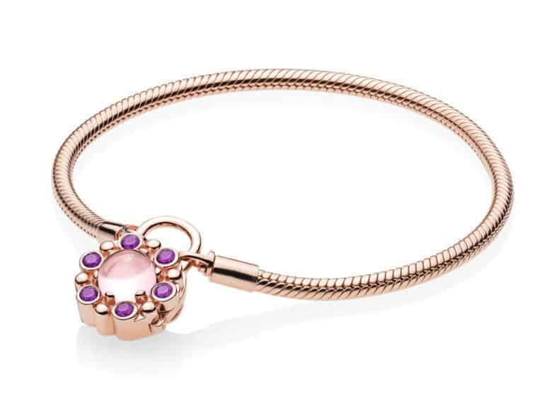 Bracelet fermoir or rose, cadenas éclat Héraldique 199€