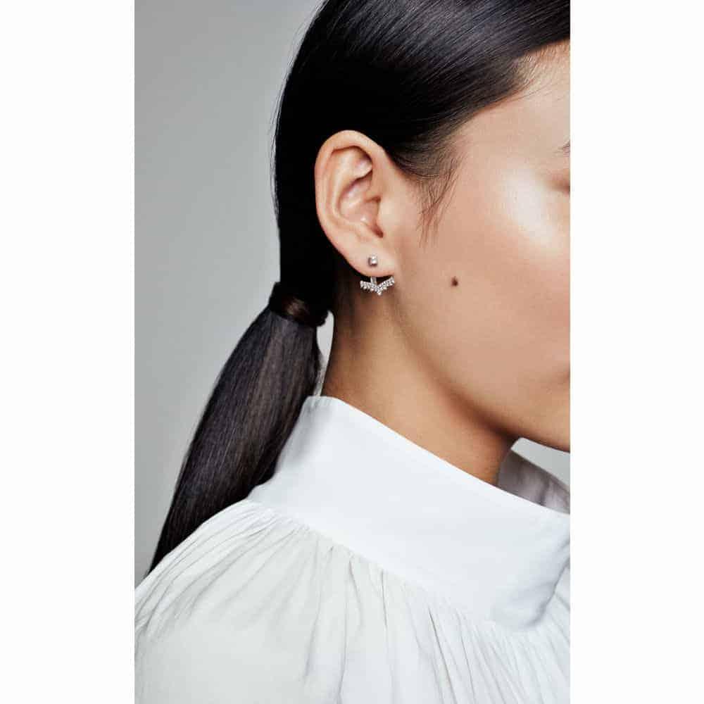 Rendu porté des Boucles d'oreilles Vœu de Princesse 89€ - 297739CZ
