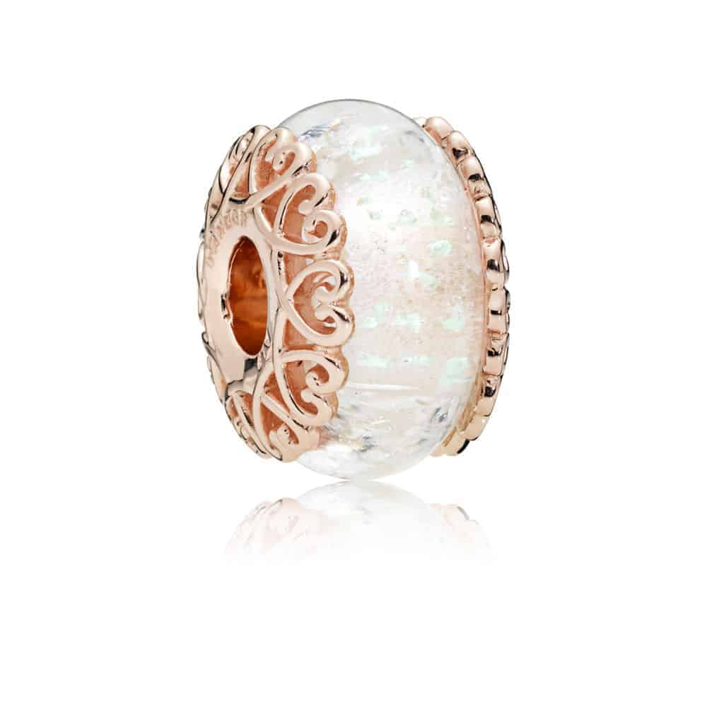 Murano Blanc Irisé Or Rose 59€