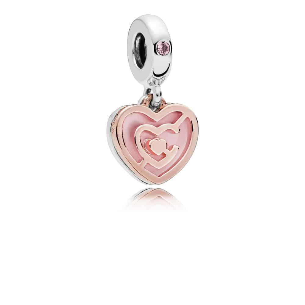 Charm pendant Labyrinthe de l'Amour en PANDORA Rose 55,00 €