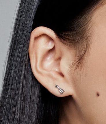 Flèches Scintillantes Clous d'oreilles en Argent 45,00 € - 297828CZ