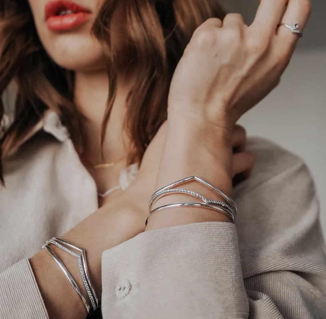 Bracelets Jonc Brillants Pandora