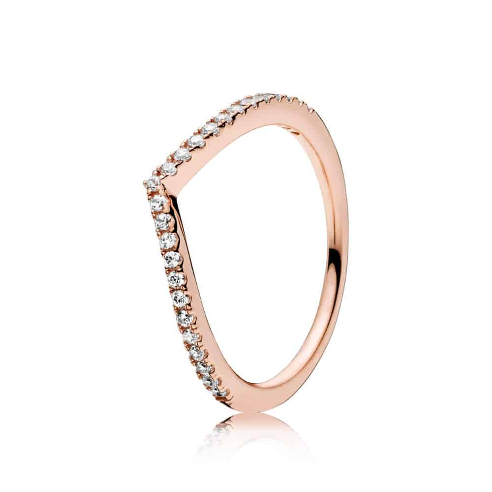 Bague Vœu Scintillant or rose 49,00 € - 186316CZ