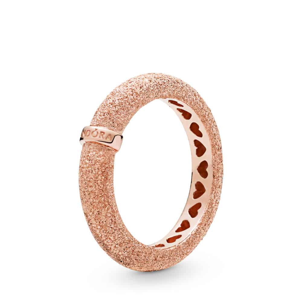 Bague Grain de Sable en Pandora Rose 59€