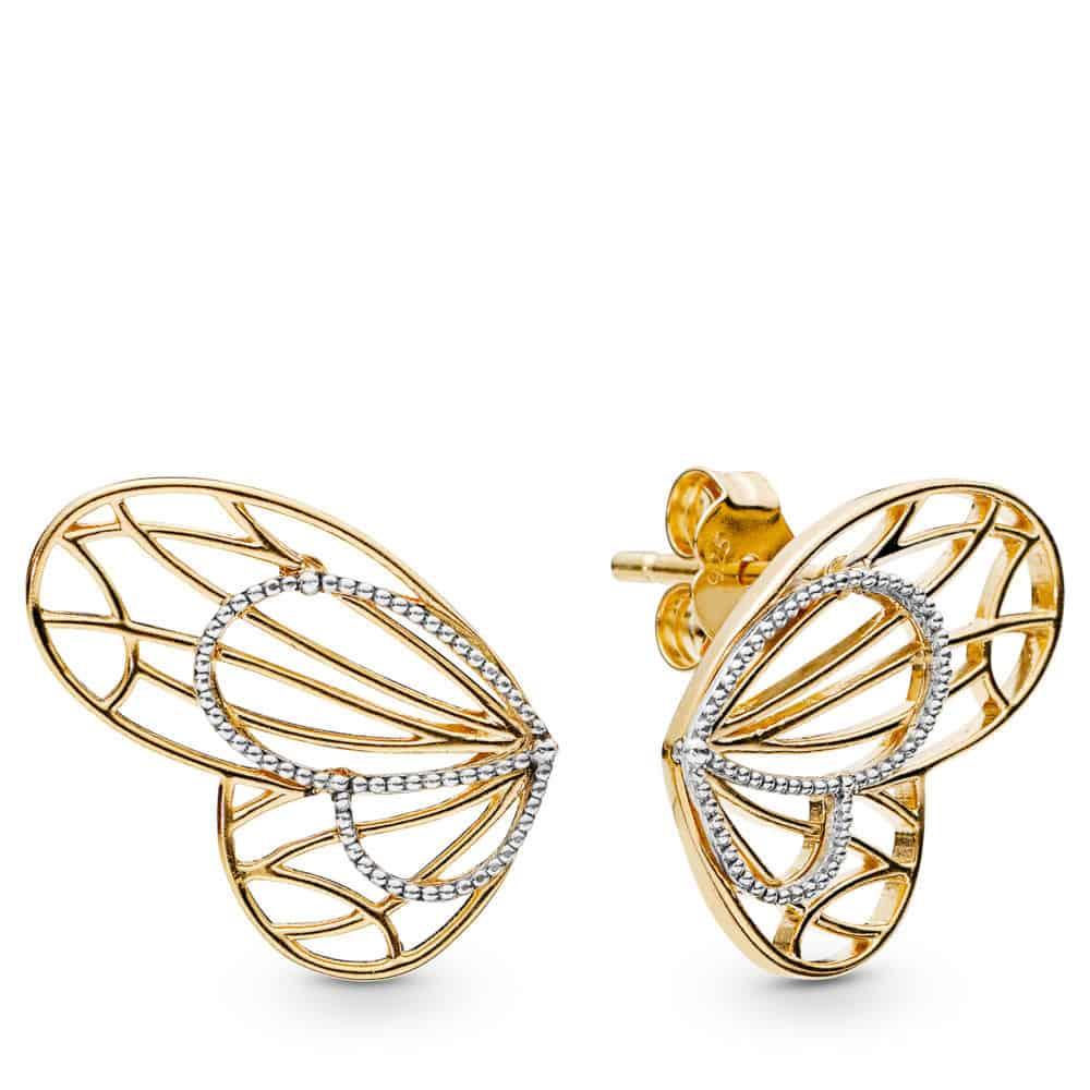 Boucles d'oreilles papillon ajourées en PANDORA Shine 89€