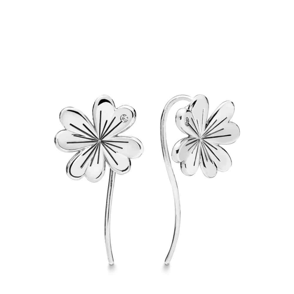Boucles d'oreilles Trèfle à Quatre Feuilles en Argent 69€ - 297908CZ
