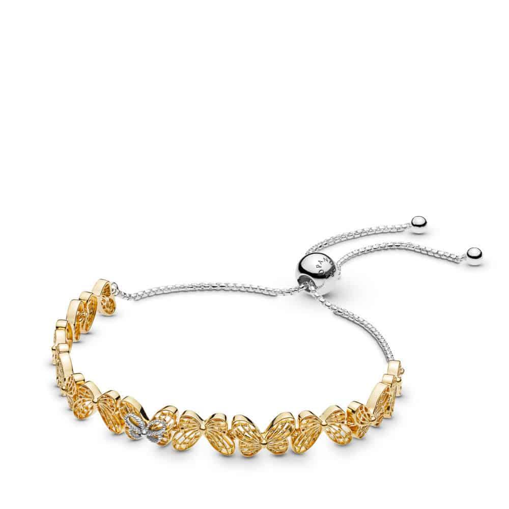 Bracelet Coulissant Papillons Ajourés en Pandora Shine 149,00 € - 567957