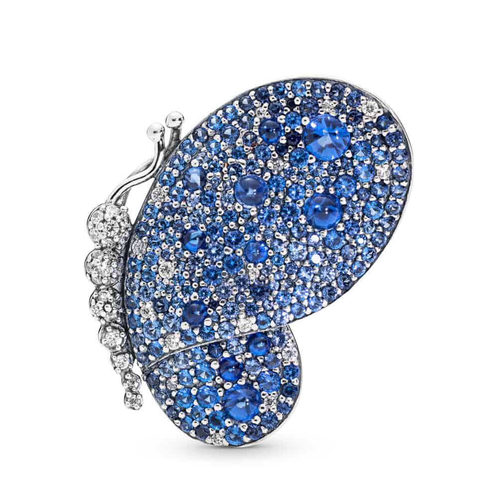 Broche Papillon Bleu Éblouissant en Argent 129€ - 697996NCB