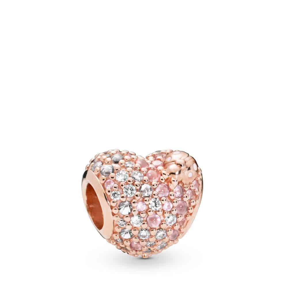 Charm Cœur et Coccinelle en PANDORA Rose 89€ - 787894NPOMX