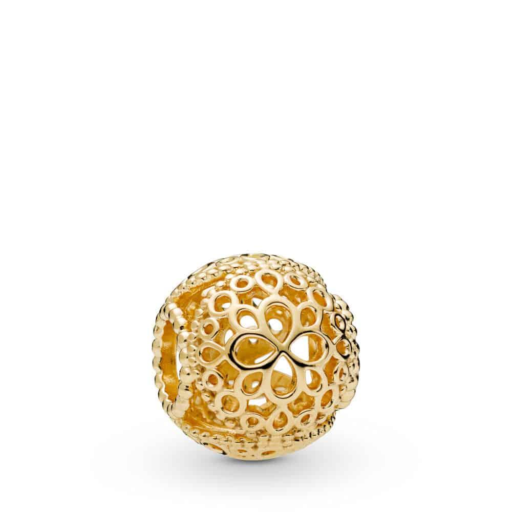 Charm Fleur Ajourée en PANDORA Shine 59€