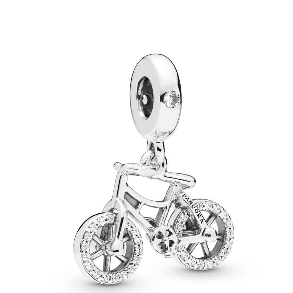 Charm Pendant Bicylclette brillante en argent 59€