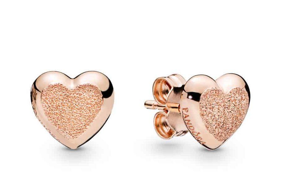Clous d'oreilles Cœur en PANDORA Rose 49€