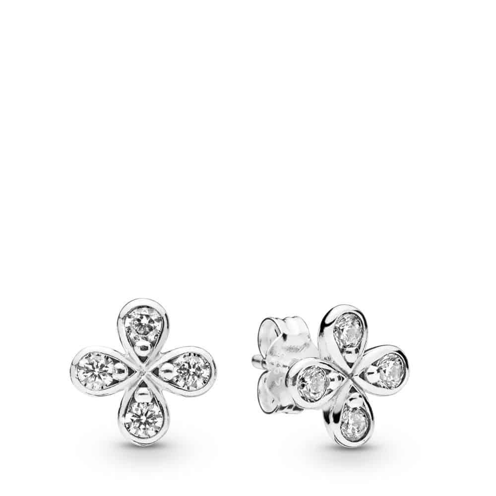 Clous d'oreilles Fleurs à Quatre Pétales en Argent 49€ - 297968CZ