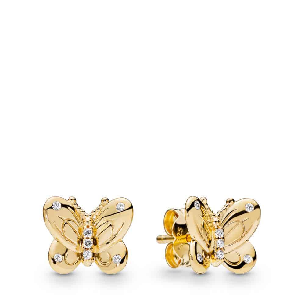 Clous d'oreilles Papillon en PANDORA Shine 69€ - 267921CZ