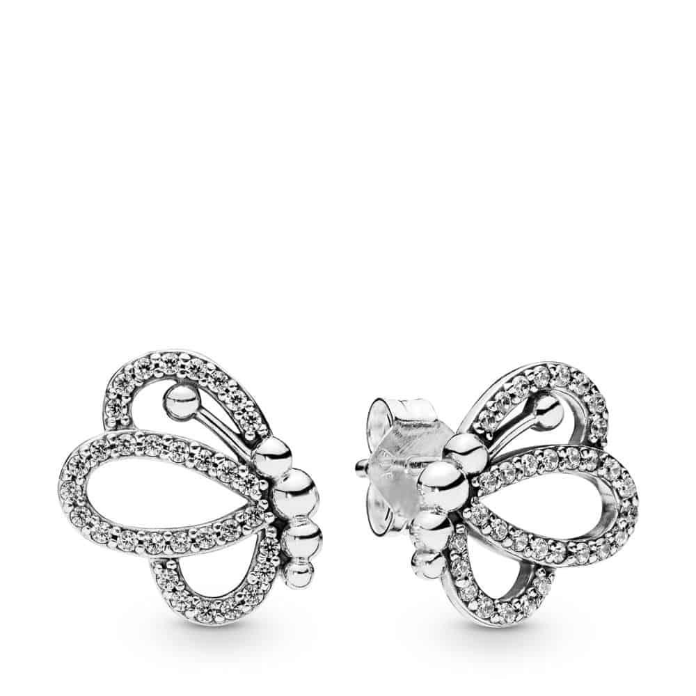 Clous d'oreilles Silhouettes de Papillon ajourés Argent 59€