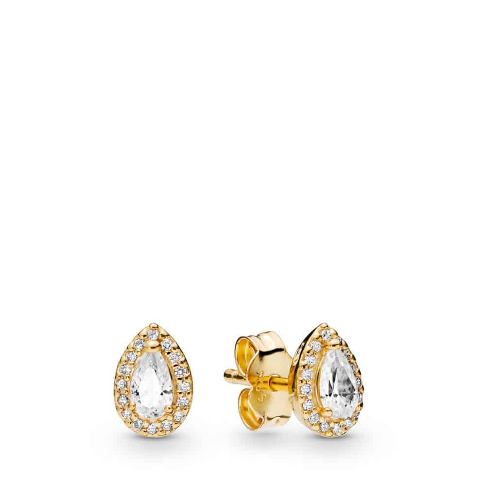 Clous d'oreilles gouttelettes géométriques en Pandora Shine 69€