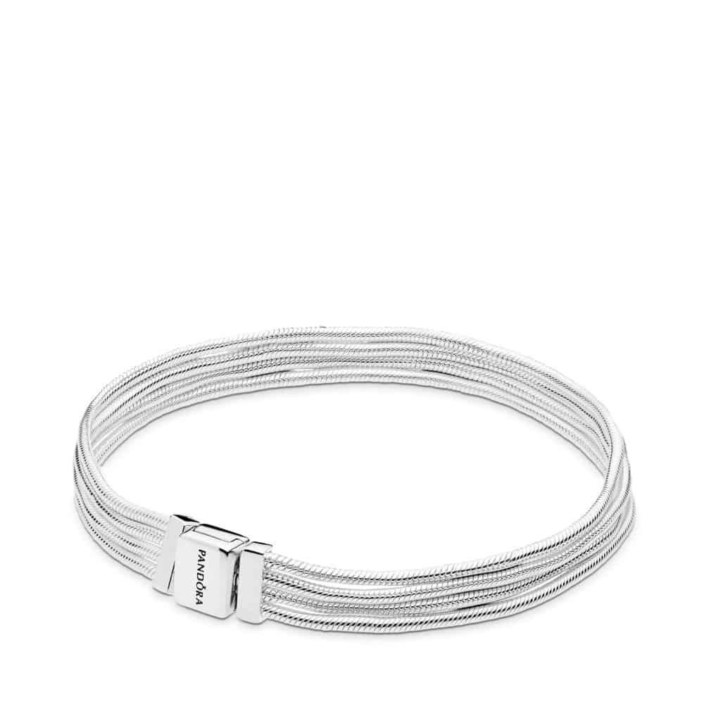 Bracelet MailleSerpent Multirang en Argent 69,00 €