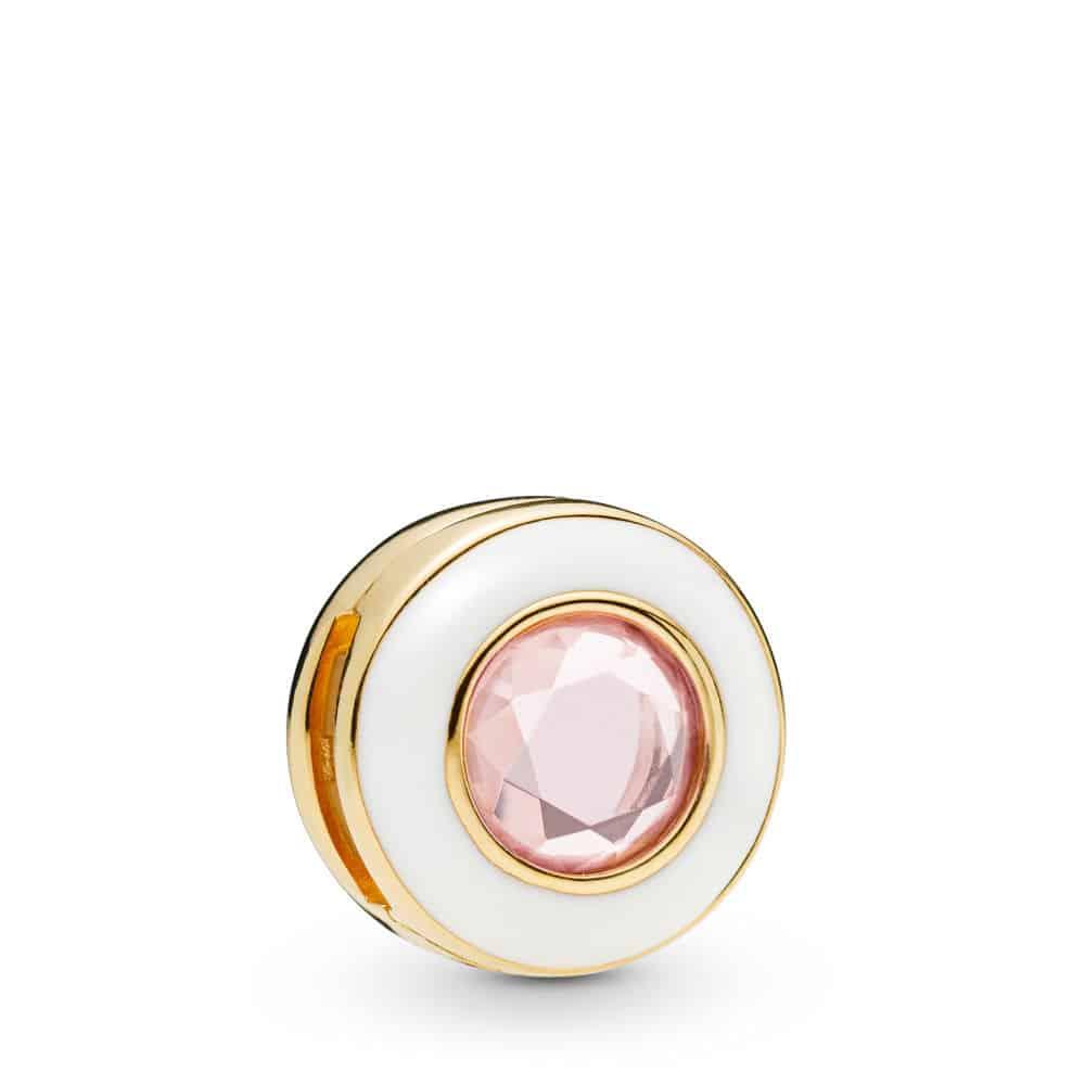 Clip Charm Cercle Blanc Lumineux en PANDORA Shine 69€