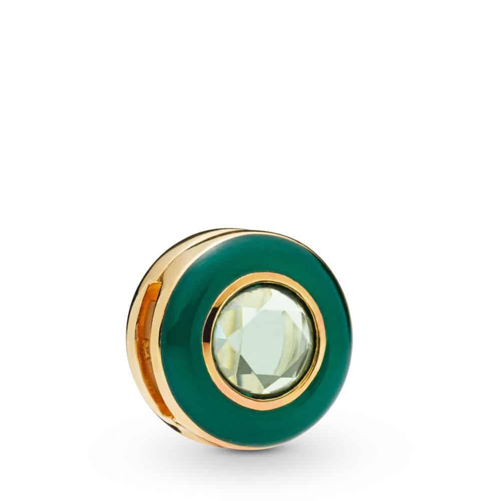 Clip Charm Cercle Vert Lumineux en PANDORA Shine 69€