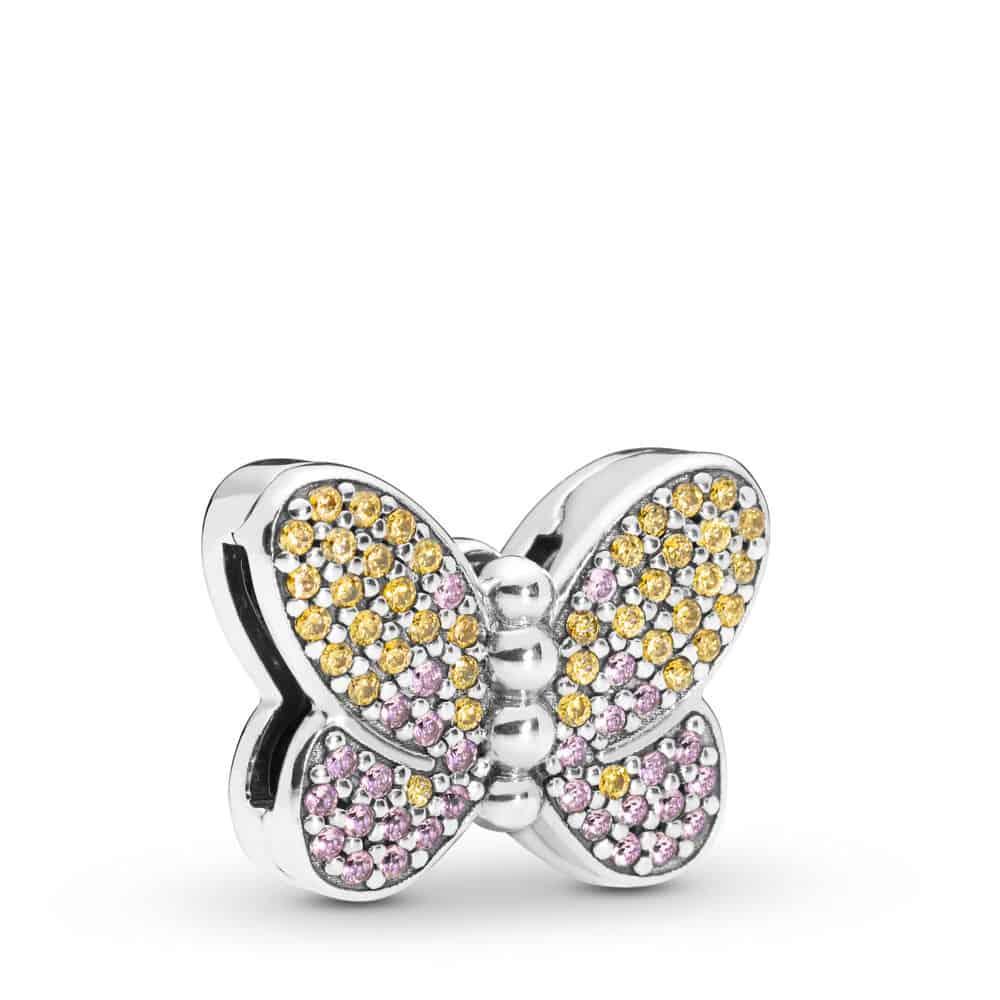 Charm clip Papillon Lumineux en Argent 59,00 €