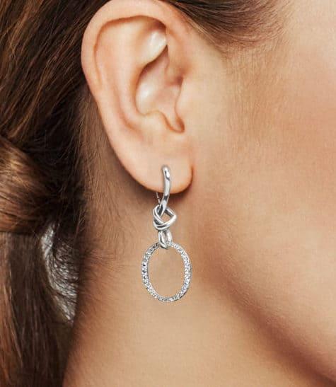 Les Boucles d'oreilles Liens de l'Amour en Argent 89€ - 298110CZ
