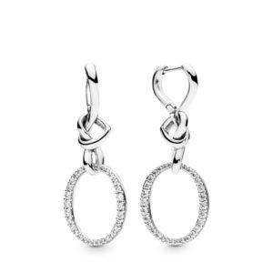 Boucles d'oreilles Liens de l'Amour en Argent 89€ - 298110CZ