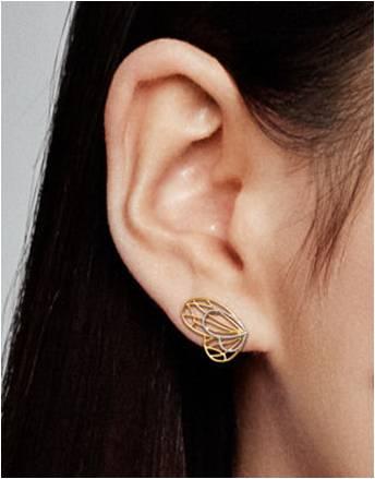 Boucles d'oreilles papillon ajourées en PANDORA Shine