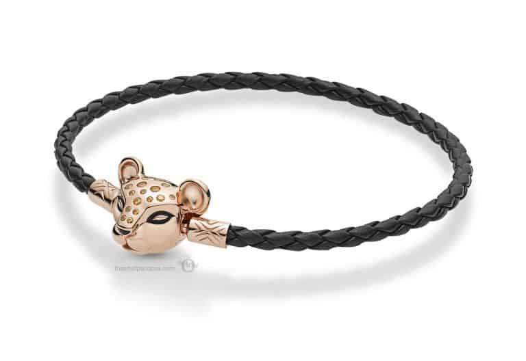 bracelet cuir Panthère