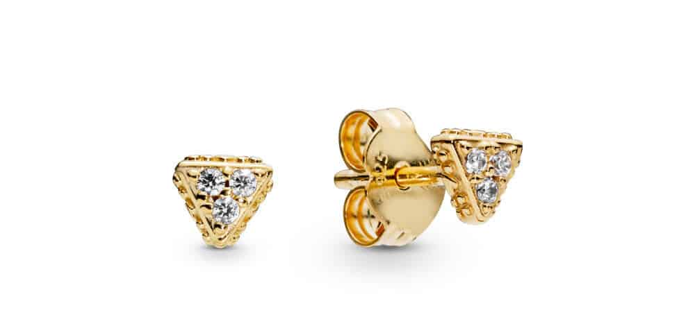 Clous d'oreilles Triangles Scintillants en Pandora Shine 45€