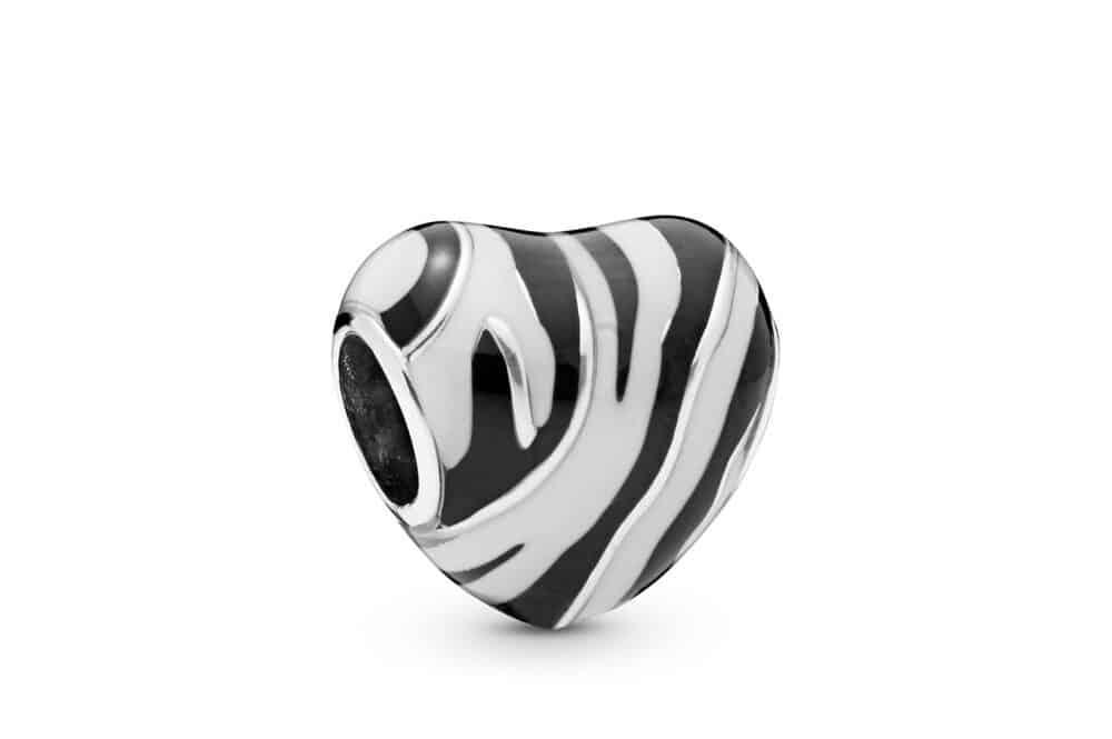 Charm cœur zèbre en Argent 45€ - 798056ENMX