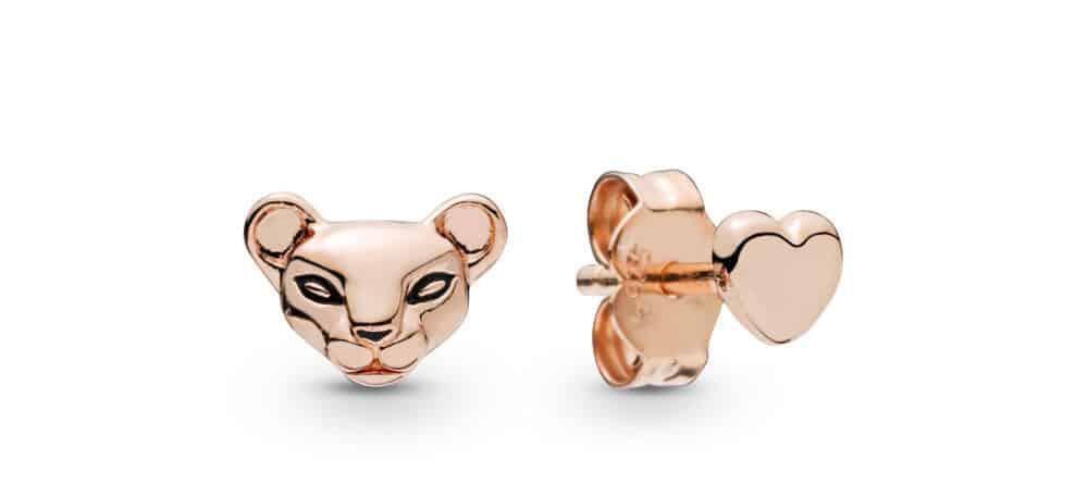 Clous d'oreilles Princesse Lionne et Cœuren Pandora Rose 39,00 €