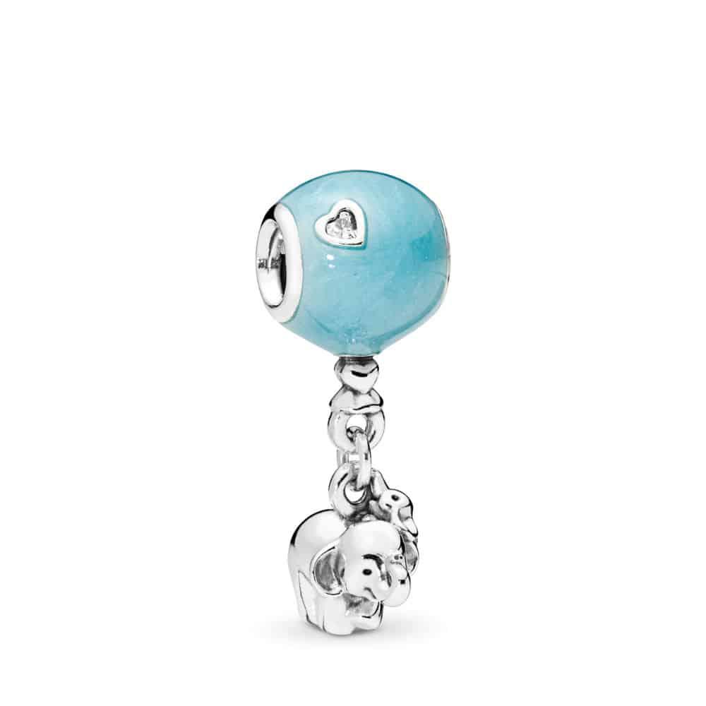 Charm éléphant et ballon Bleu : 49€ soldé 29.4€