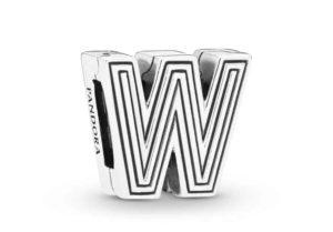 Charm Clip Lettre W PANDORA Reflexions en Argent 29,00 €