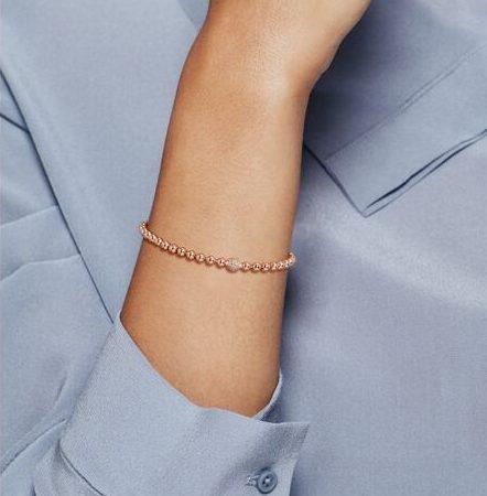 Rendu du Bracelet Sphère et Pavé Or Rose : 169€ - 588342CZ