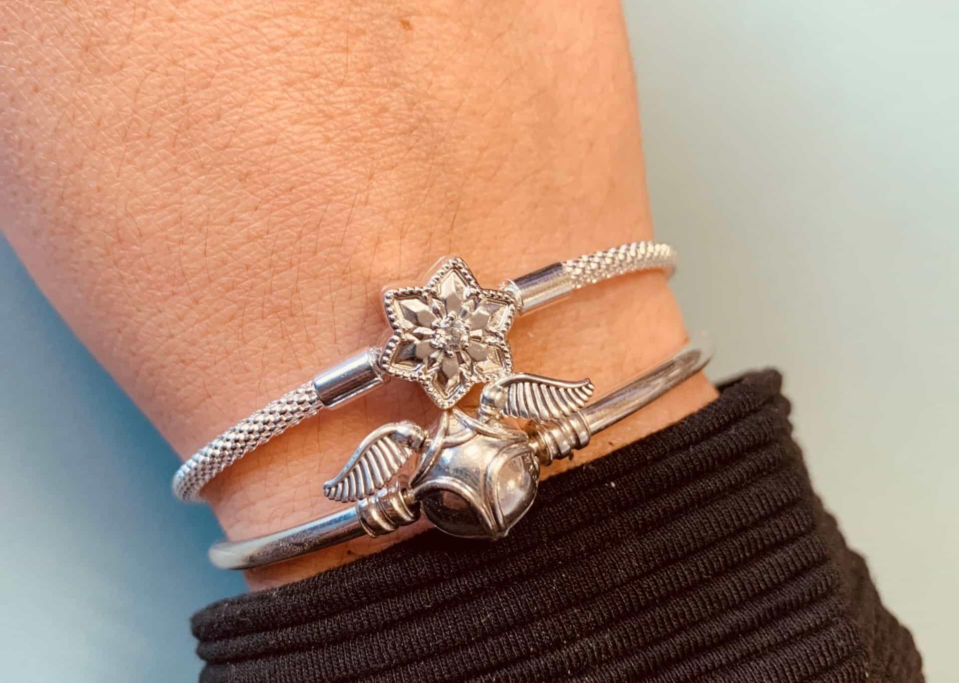 Duo de bracelet Pandora : Vif dor et Etoile givrée