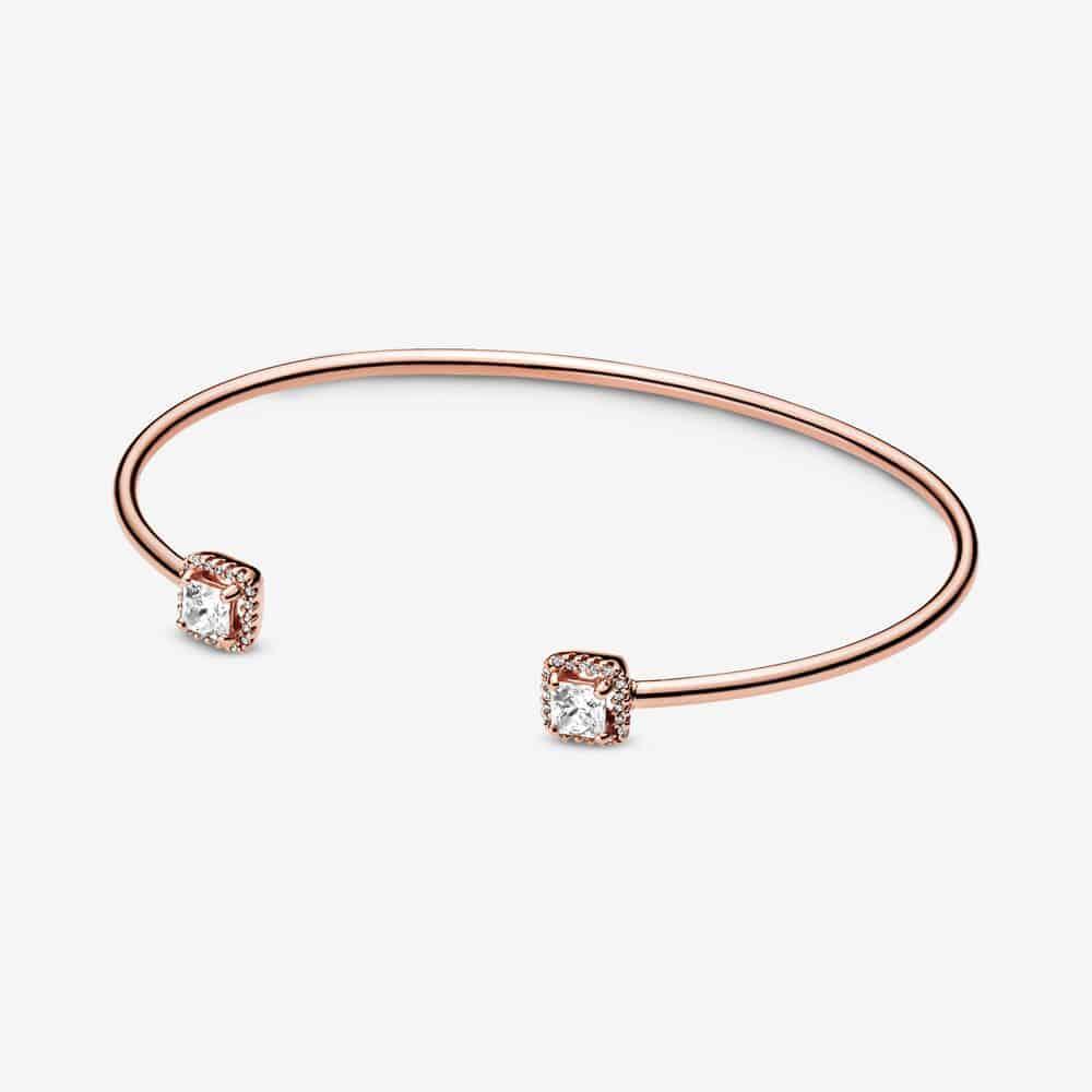 Bracelet Jonc Ouvert Carrés Scintillants 169,00 € - 588508C01