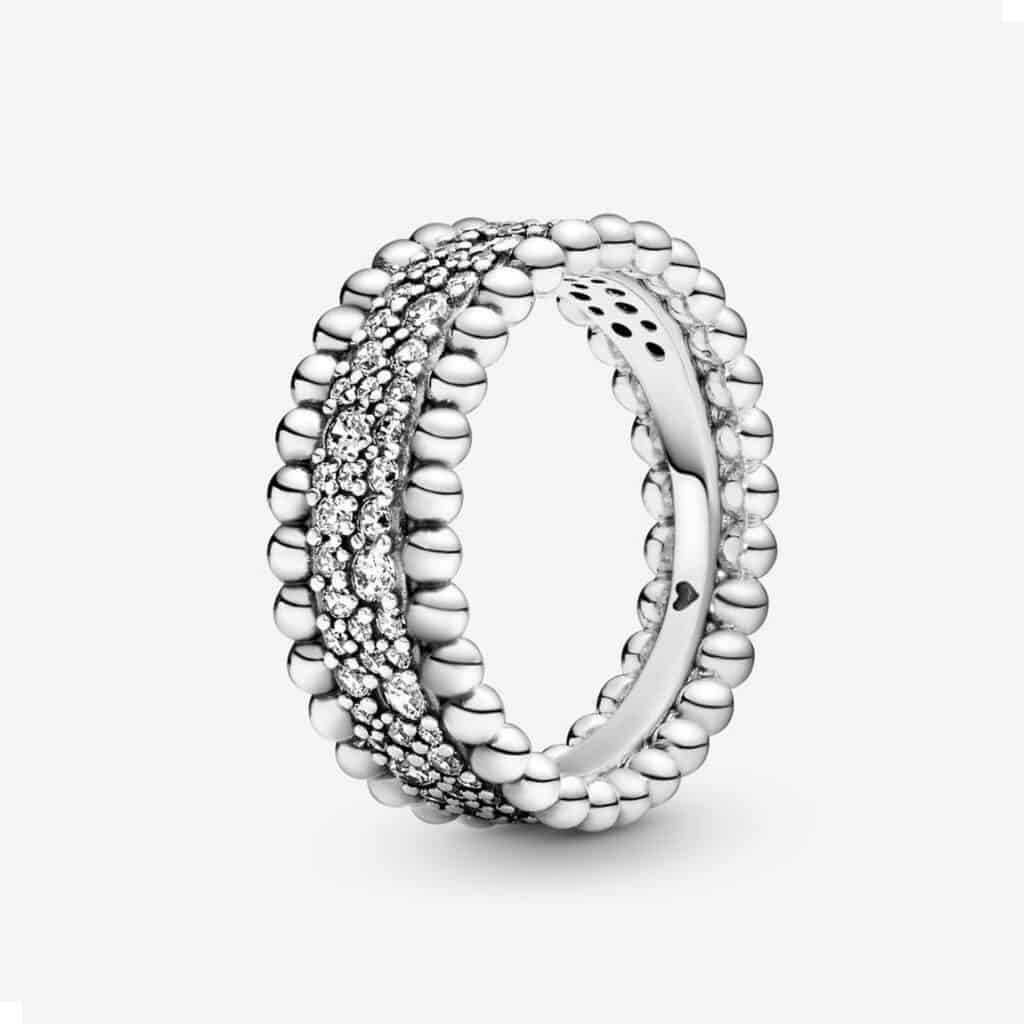 Bague anneau Pavé et Perlé 89,00 €
