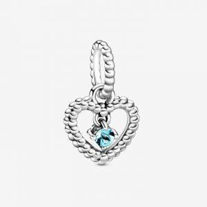 Charm Pendant Coeur Perlé Bleu Azur 29,00 €