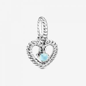 Charm Pendant Cœur Perlé Bleu Ciel 29,00 €