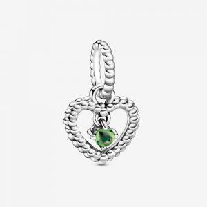 Charm Pendant Cœur Perlé Vert Printemps 29,00 €