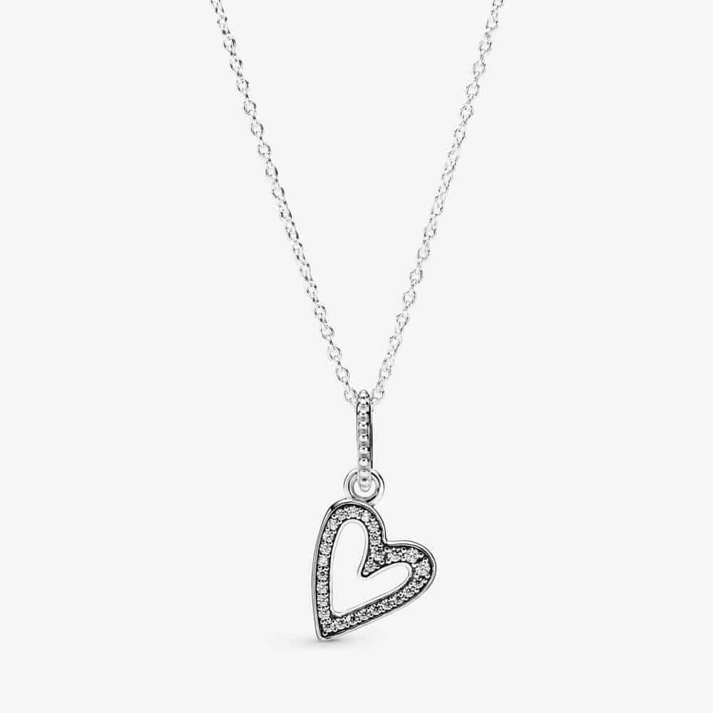 Collier Pendant Esquisse de Cœur Scintillant 69,00 € - 398688C01