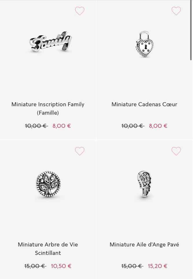 pandora bijoux soldes
