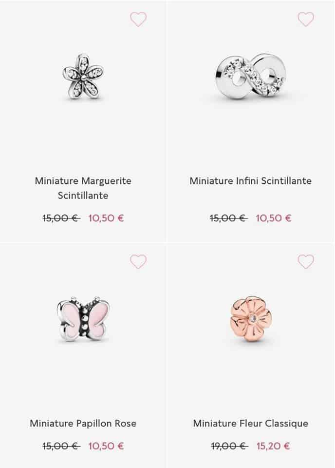 Les Miniatures soldes pandora